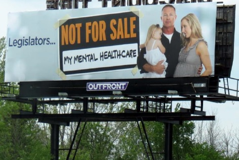 Billboards take aim at lawmakers on mental health controversy