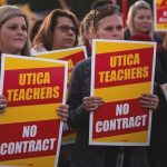 Teachers in the state's highest-paid school district demand a better contract